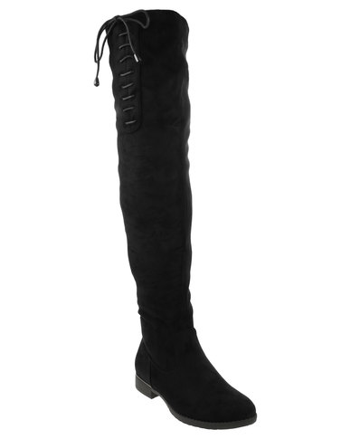 Miss Black Miss Black Dorota Over The Knee Boots Black buy cheap exclusive reliable buy cheap reliable outlet supply shop for FO0OXm