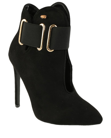Miss Black Beverley Pointy Heeled Ankle Boot Black