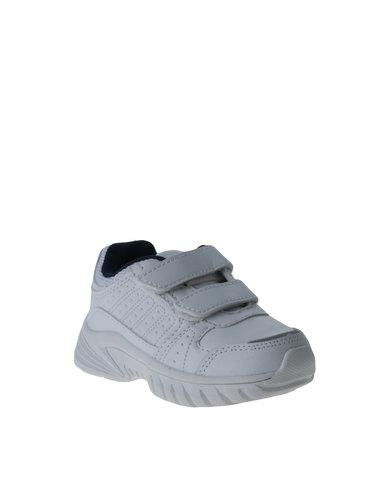 My School Tekkie Velcro Sneaker White