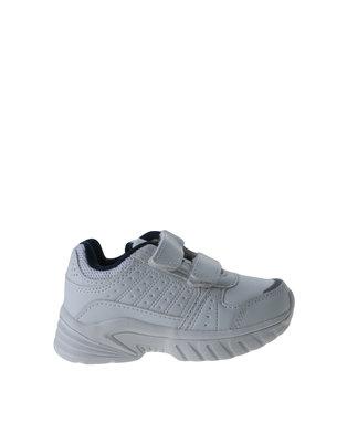 e75bbabf52f6c My School Tekkie Velcro Sneaker White
