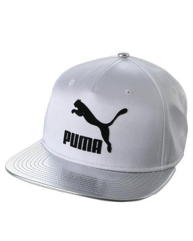 1ee523e3457 Puma Ringside PP Cap Metallic PU White
