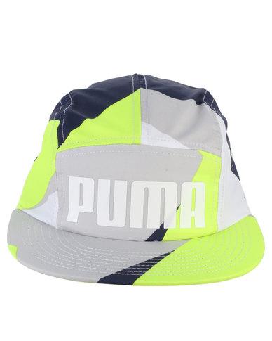 Puma 96 5 Panel Cap Peacoat Graphic Multi  727fa7b5ad2