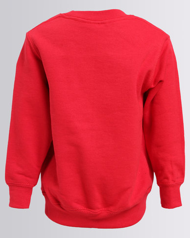 6bed7fa3 Fruit Of The Loom Kids Classic Set-In Sweat Top Red   Zando