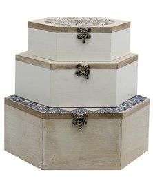 Geo Flower Box (Set of 3)