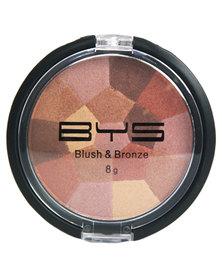 BYS Blush & Bronze Mosaic Compact 8g High Shine