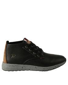 Renegade Splat Casual Lace Up High Top Sneaker Black