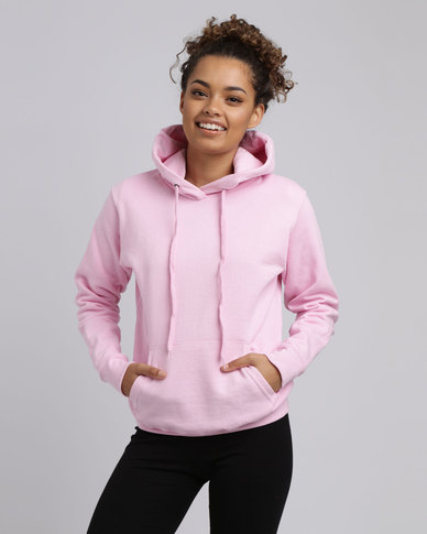 Fruit of the Loom Lady Fit Classic Hooded Sweat Pink