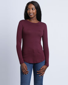 Utopia Basic T-Shirt Burgundy