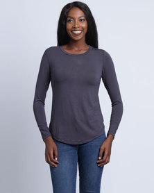 Utopia  Basic T-Shirt Charcoal