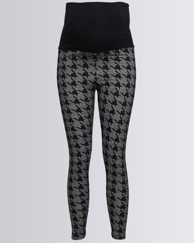 Me-A-Mama Printed Leggings Houndstooth Multi