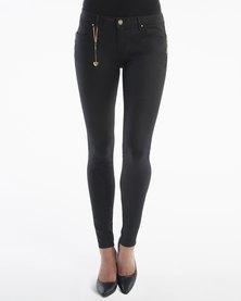 Diva Jeans Coco Mid Rise Skinny Diamond Noir Black