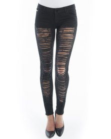 Diva Jeans Diaz Low Rise Skinny Black Slash