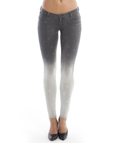 Diva Jeans Diaz Low Rise Skinny Storm Fade Star Grey