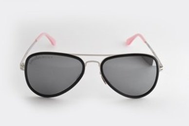 Lentes & Marcos Usera Polarised  Black & Pink Aviator Sunglasses