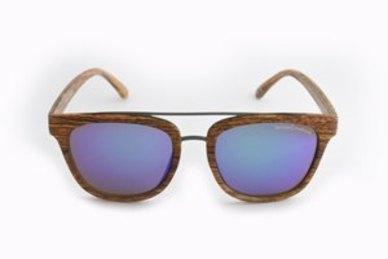 Lentes & Marcos Legazpi UV400 Brown Wood Wayfarer Sunglasses