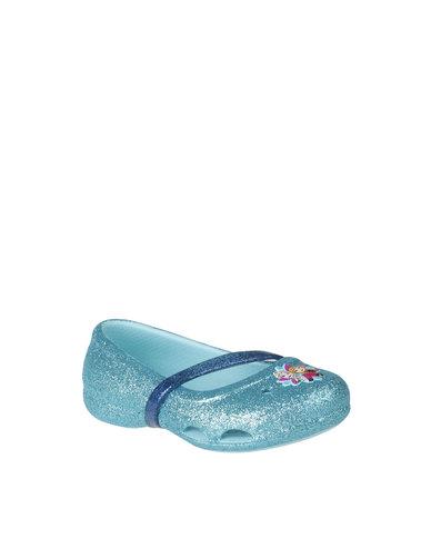 16566903406d Crocs Lina Frozen Flat K Blue