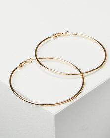 Joy Collectables Ladies Hoop Earrings 7cm Gold-tone