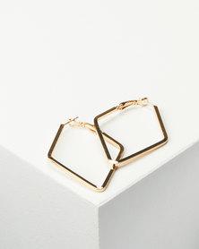 Joy Collectables Ladies Fashion Drop Earrings 4cm Gold-tone