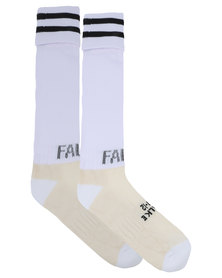 Falke Performance Stripe Cuff Match White
