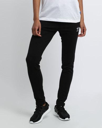 9b680ea3 adidas Ladies Slim Track Pants Cuff Black