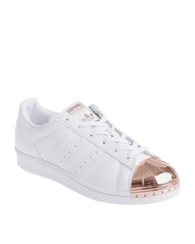 classic classic shoes 2018 sneakers adidas Superstar Metal Toe W Rose Gold Toe White