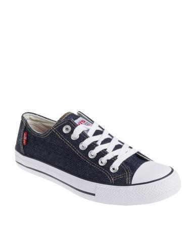 levi's ® trucker lo casual low cut lace up canvas shoe