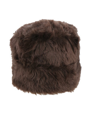 70f45572627 Queenspark Plain Turned Up Faux Fur Cossack Hat Chocolate