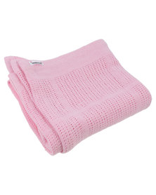 Bugsy Boo Baby Blanket Pink