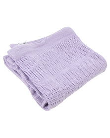 Bugsy Boo Baby Blanket Lilac