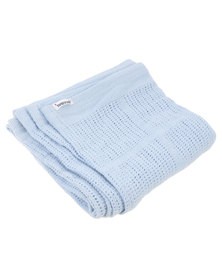 Bugsy Boo Baby Blanket Blue
