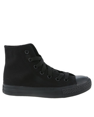 Soviet Viper Hi Casual Lace Up High Top Canvas Sneakers Black Mono