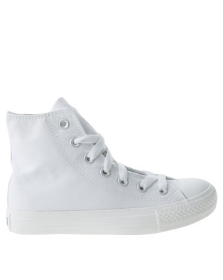 Soviet Viper Hi Casual Lace Up High Top Canvas Sneakers White Mono