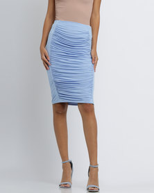 Brett Robson Rubi Ruched Skirt Blue