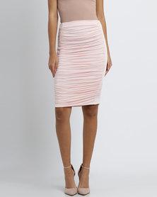 Brett Robson Rubi Ruched Skirt Pink