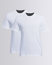 Jockey 2 Pack Crew Neck Undershirt White