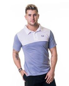 Custom Apparel Dri-Feel Golf Tee Grey White