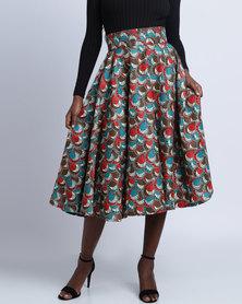 Pengelly  Khanya Full Skirt Multi