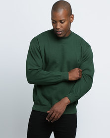Fruit of the Loom Crew Neck Sweater Bottle Green