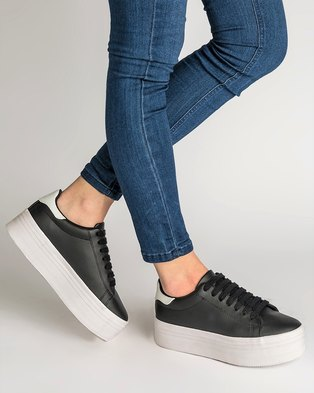 buy online 3769a 80e13 Jeffrey Campbell Stan Platform Sneakers Black and White