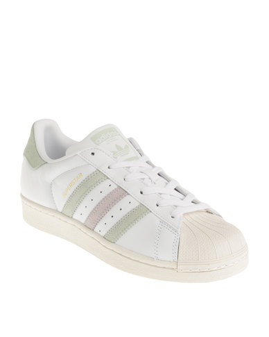 adidas Superstar W Sneaker White Green Purple  6716fb3c08f0