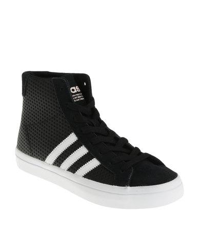 online store e4a52 bebbb adidas Court Vantage Mid W Lea Sneaker Black  Zando