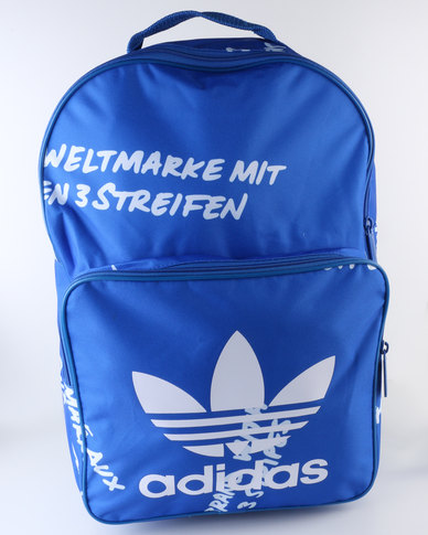 adidas Classic Graphic Backpack Blue  966e67c62ac8f