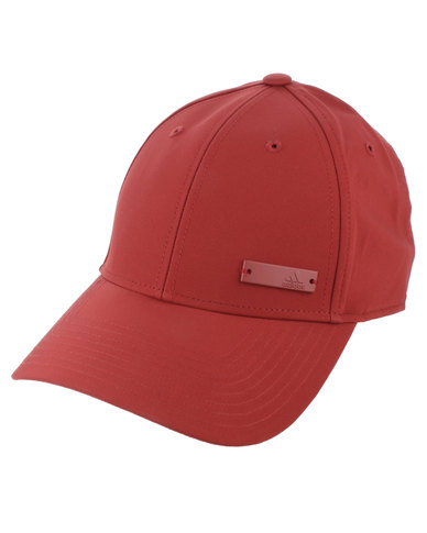 adidas Performance 6 Panel Cap Lightweight Metal Badge Red  8f713c11b58