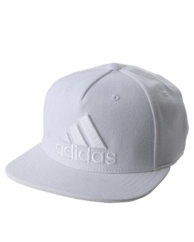 adidas Performance Flat Cap Logo White  69e8f329ae0