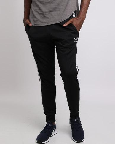 9afa8979858 adidas Superstar Slim Cuffed Tracksuit Pants Black | Zando