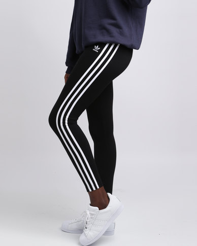 15bea3730c77 adidas Ladies 3 Stripe Legging Black White
