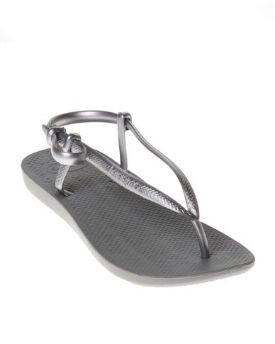 5cbb4ddf4eaed0 Havaianas Fit Flip Flops Grey   Silver