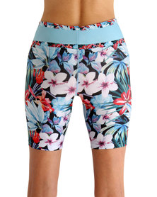 Vivolicious Hibiscus Performance Tech Short Blue Red