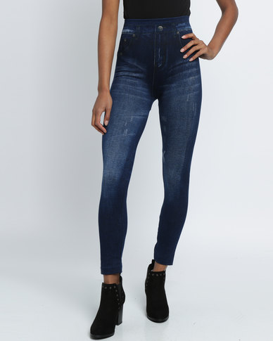 Revenge Jeggings Light Wash Indigo