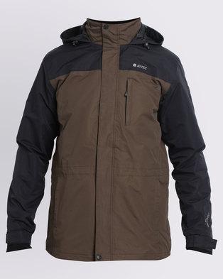 hot-seeling original limited guantity innovative design Hi-Tec Canis Men's 3 in 1 Jacket Army Green/Black